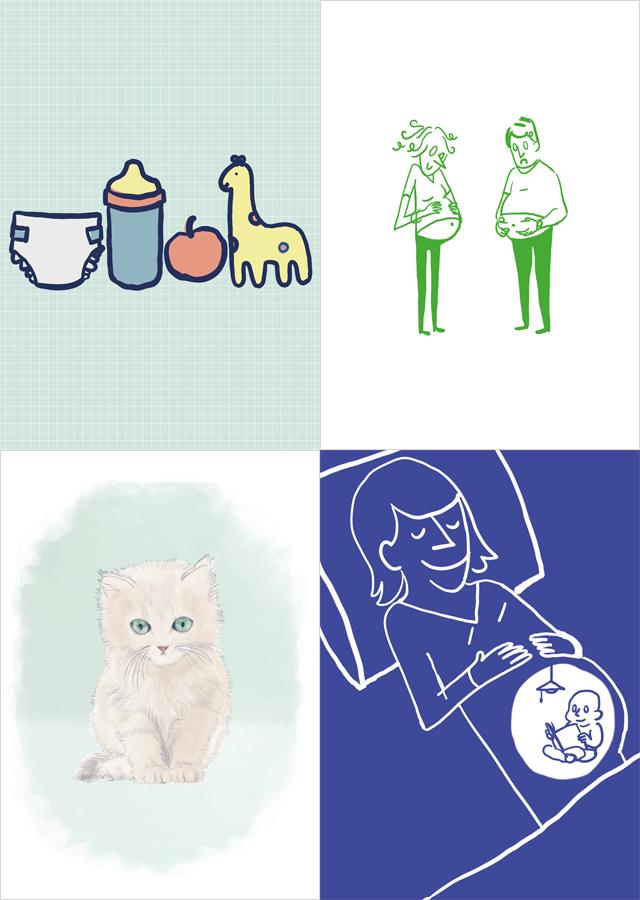 carte annonce de grossesse