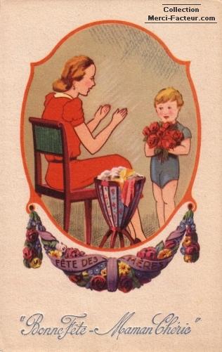 Bonne Fete Maman Cherie Maman qui tend les bras