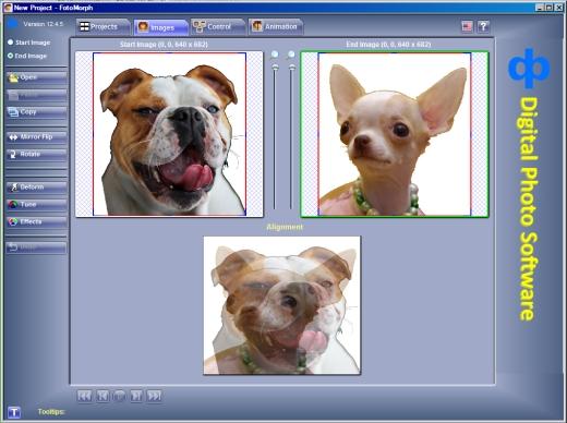 AIde et tutorial pour faire une carte virtuelle en morphing avec FotoMorph