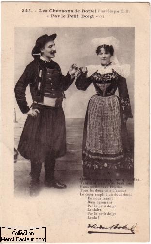 chanson de Théodore Botrel sur carte postale