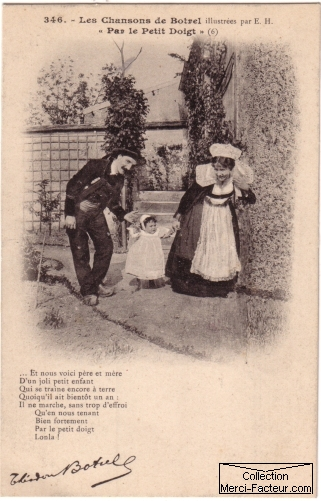 Par le petit doigt carte postale ancienne saint valentin