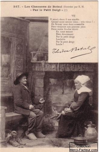 Carte postale ancienne pour la fête de la Saint Valentin