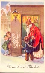 carte de Saint Nicolas pour la fête saint Nicolas