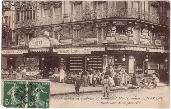 Alimentation g鮩rale sur carte postale ancienne ࠐaris
