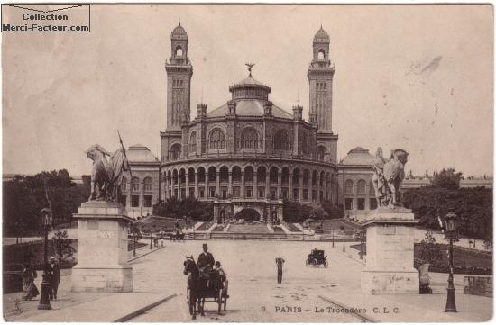 Envoyer une carte postale ancienne de Paris ancien Trocad鲯 en 1911