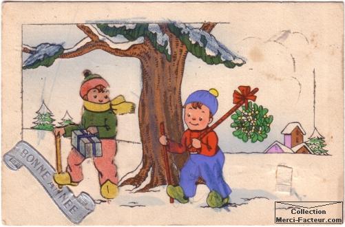 Les enfants à la neige