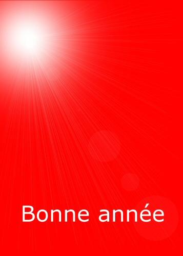 Carte rouge avec lumiere