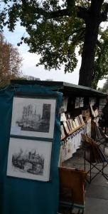 bouquiniste sur la quais parisien