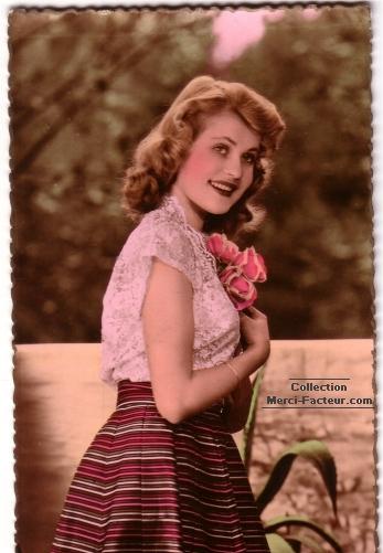 Jolie catherinette pour carte postale ancienne
