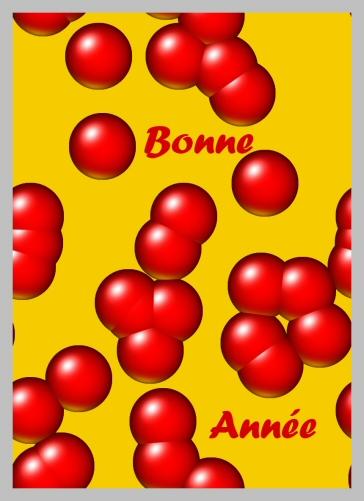 carte de voeux à imprimer gratuite avec boules rouges