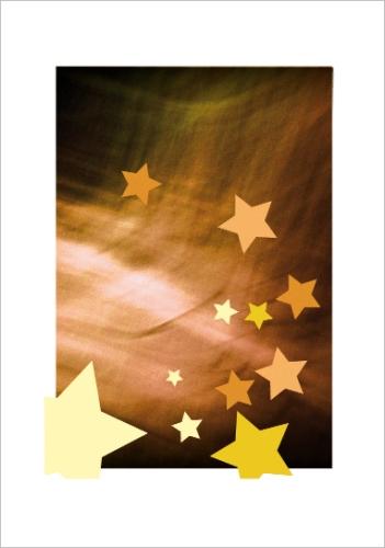 carte de voeux avec étoiles dorées pour le nouvel an