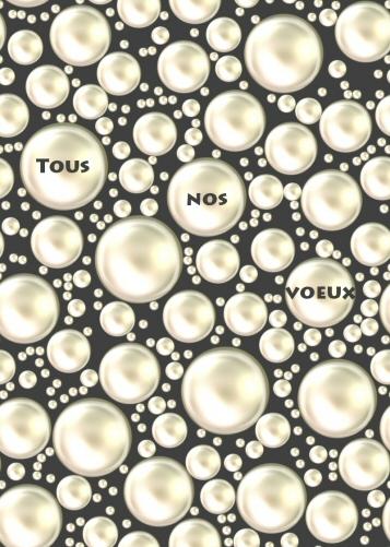 carte de voeux avec perles. Tous nos voeux