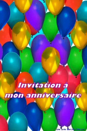 Carte invitation anniversaire pour enfant à imprimer gratuite et à envoyer par la Poste