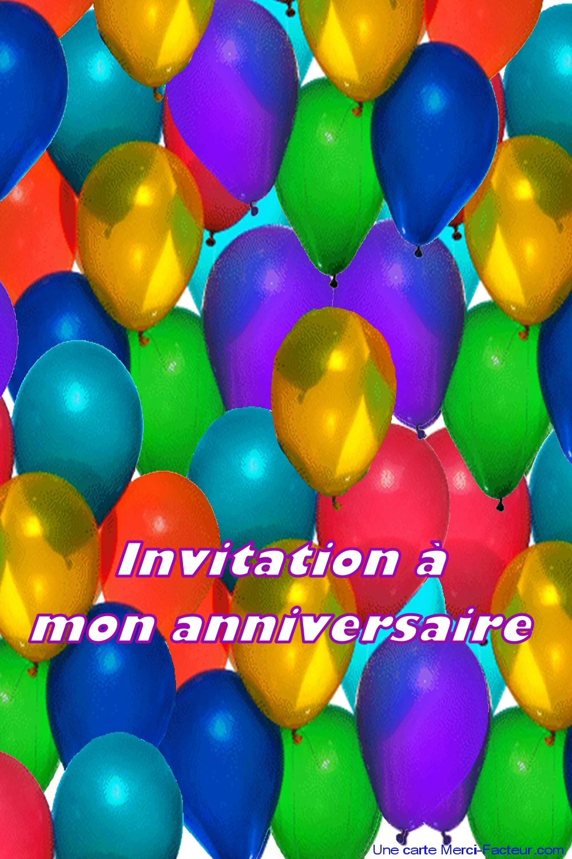 Carton D Invitation D Anniversaire à Imprimer Gratuit Merci Facteur