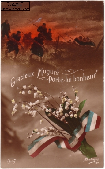 Du muguet pour les poilusde 14/18 sue carte postale