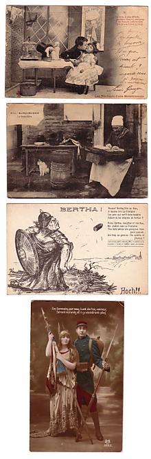 carte postale de vacances ancienne