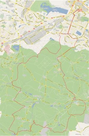 Plan circuit randonnée en VTT en vallée de chevreuse depuis Montigny le Bretonneux