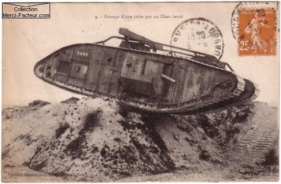char lourd guerre 14 18