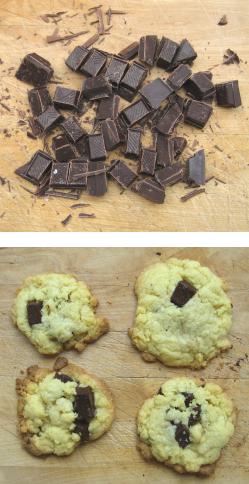 cookies au chocolat de vacances