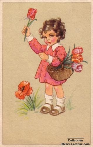 Cueillette de fleurs pour Maman