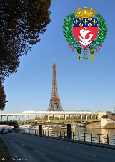 carte postale de la tour Eiffel pour imprimer gratuitement