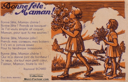 Poème pour la fete des meres
