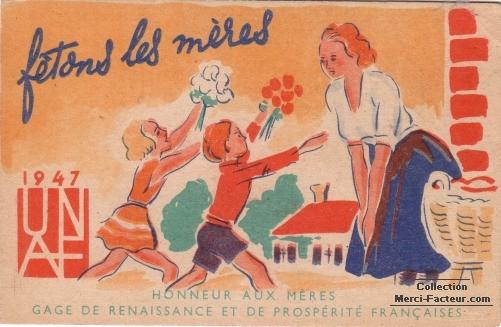 Fetons les mères pour la fete des mères 1947
