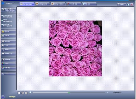 utilisation du logiciel Fotomix pour une carte de fête des mères