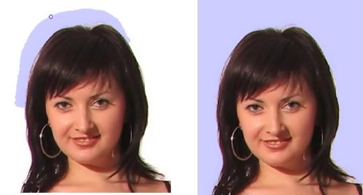 retirer le contour du visage pour faire la transparence pour la carte st valentin