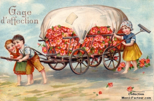 Une charette de fleurs en gage d'affection pour mon Papa à la fête des Pères