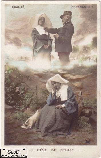 Carte postale Le reve de l'ecilée égalité éspérance