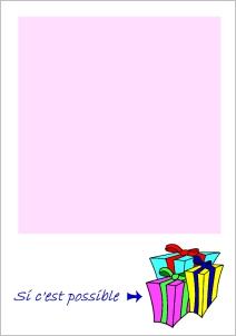 Lettre gratuite rose pour le pere noel