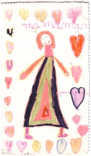 dessin d'enfant pour la fête des mères