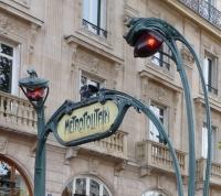 bouche de métro à Paris.