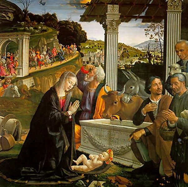 Naissance du christ. Nativité de Domenico Ghirlandaio