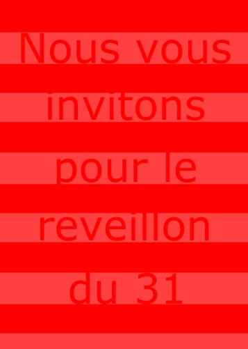 carte d'invitation au reveillons