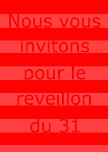 carte d'invitation au reveillons
