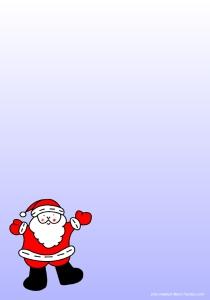 Page vierge pour impression gratuite d'une lettre pour le Père Noël