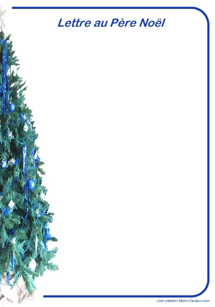 Feuille à Imprimer Pour Lettre Au Père Noël Papier à Lettre