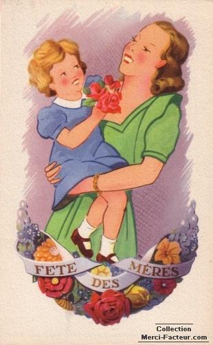 Fete des Mères dans les bras de Maman