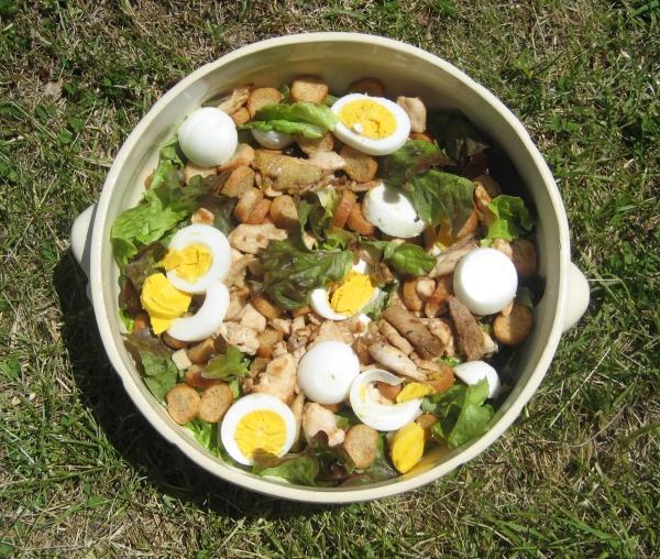 recette de la salade caesar pour les vacances ou salade césar