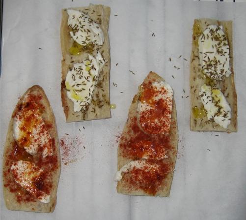 Les ingredients des tartines au chèvre pour la fête des Pères