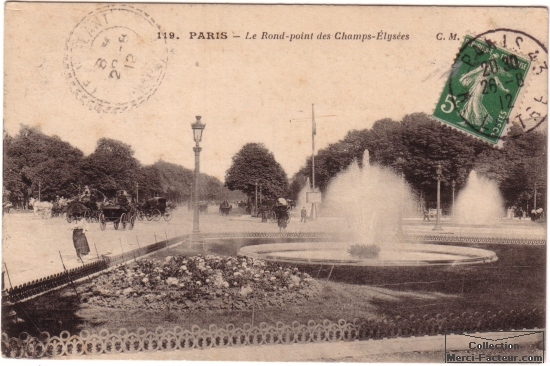 rond point des champs elysees Paris