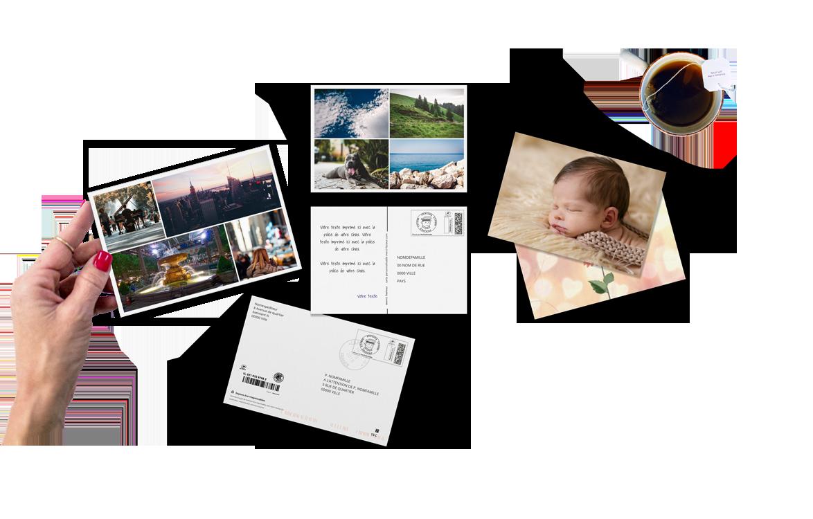 Envoi de Carte Postale Personnalisée avec photos - Merci Facteur